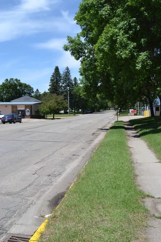 Location of the new sidewalk  on 5th Street.